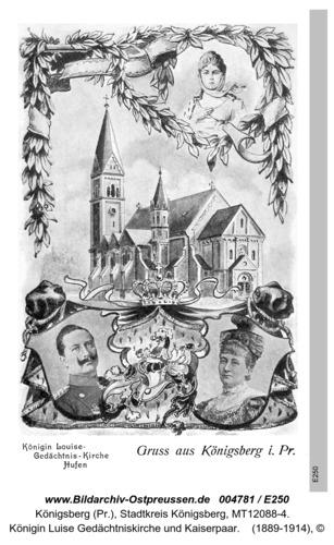 Königsberg, Königin Luise Gedächtniskirche und Kaiserpaar