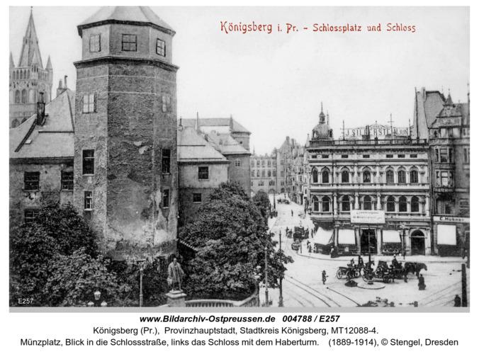 Königsberg, Schloßplatz Schloß