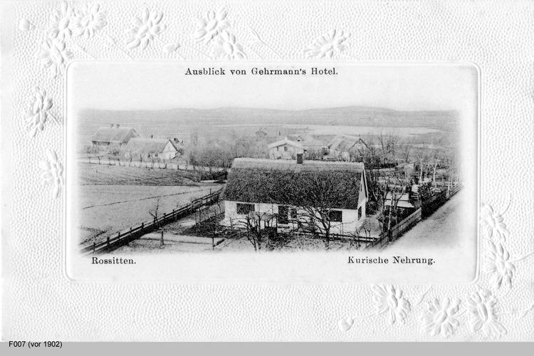 Rossitten, Blick von Gehrmanns Hotel