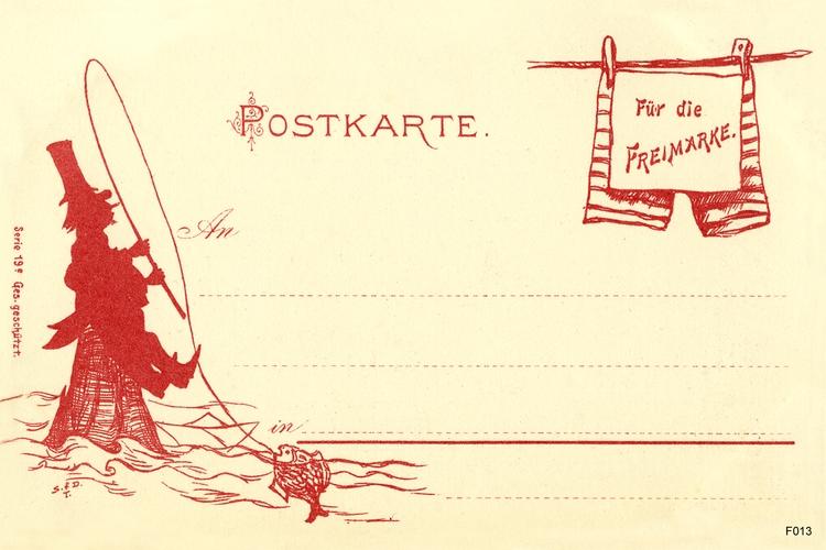 Ostpreußen, Anschriftseite einer Postkarte