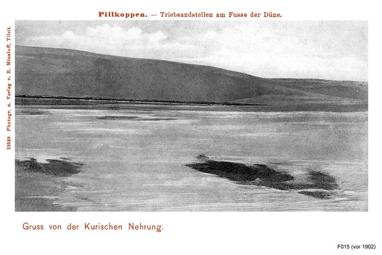 Pillkoppen, Treibsandstellen am Fuße der Dünen