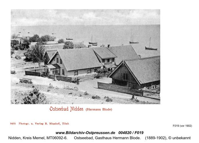 Nidden, Ostseebad (Hermann Blode)