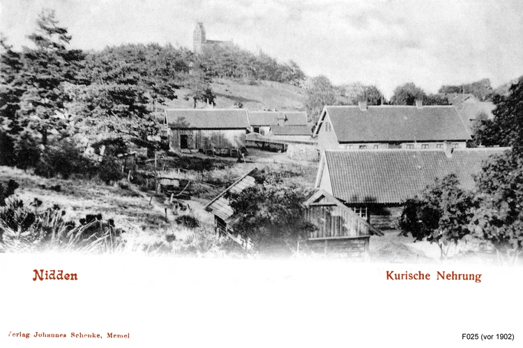Nidden, mit Dorfkirche