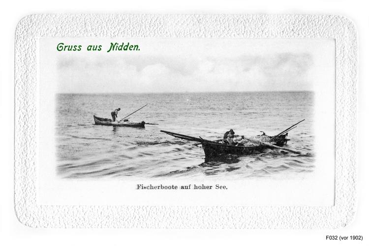 Nidden, Fischerboote auf Hoher See