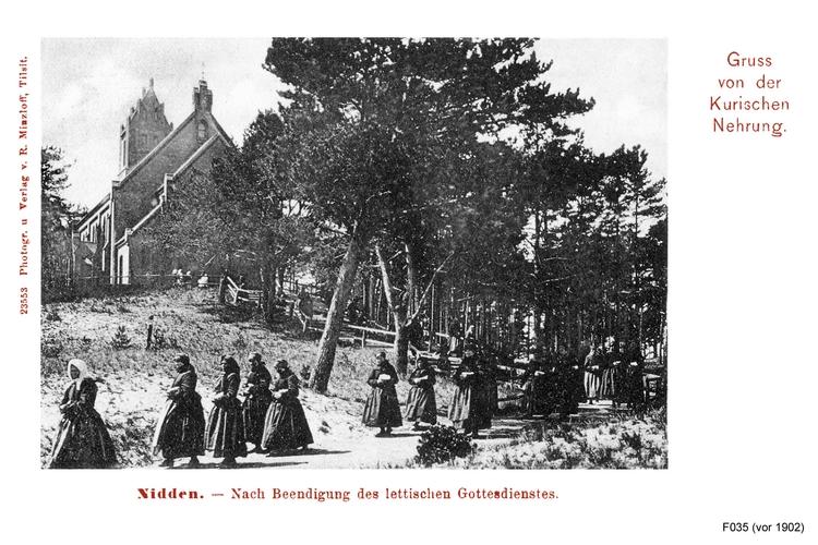 Nidden, Nach dem Gottesdienst