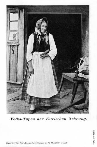 Kurische Nehrung, Volkstypen (Frau)
