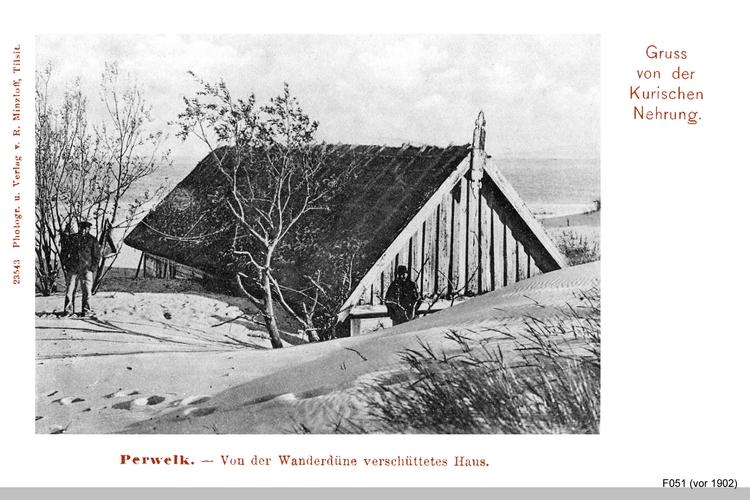 Perwelk, von einer Wanderdüne verschüttetes Haus