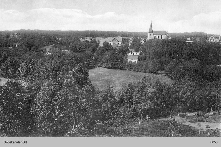 Ostpreußen, unbekannter Ort mit Dorfkirche