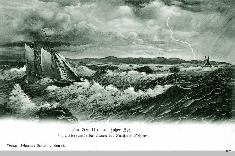 Kurische Nehrung, Gewitter auf See
