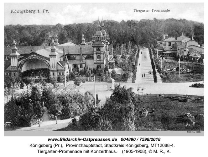 Königsberg, Tiergarten Promenade