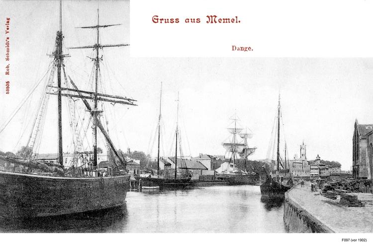 Memel, Dange mit Schiffen