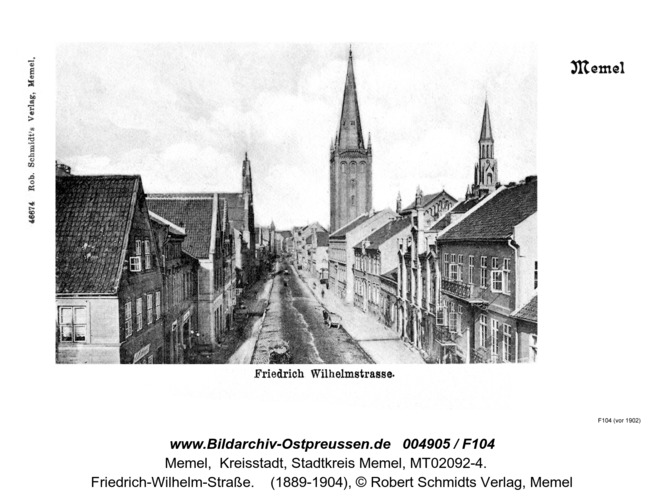 Memel, Friedrich Wilhelm Straße