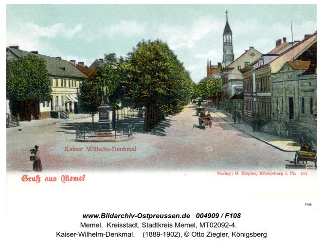 Memel, Kaiser Wilhelm Denkmal