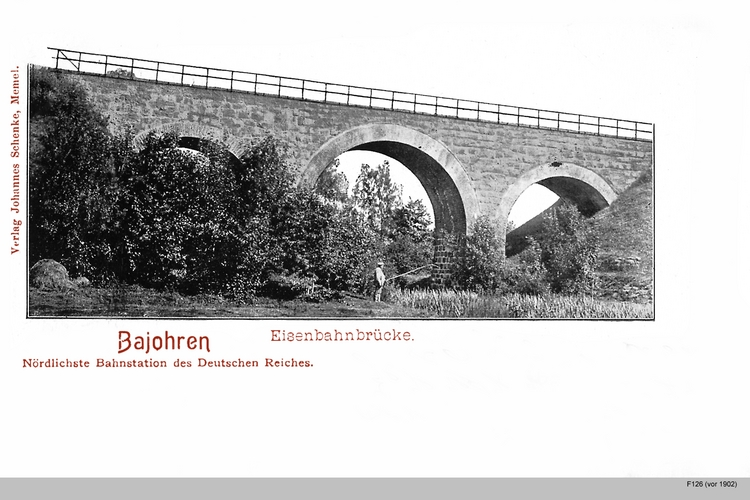 Bajohren, Eisenbahnbrücke