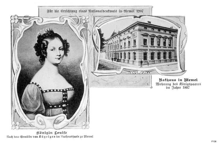 Memel, Königin Louise und Rathaus