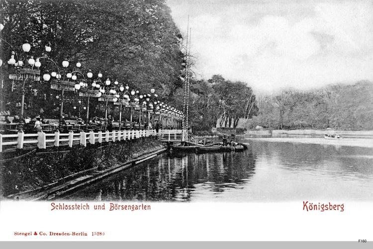 Königsberg, Schloßteich mit Börsengarten