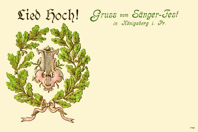 Königsberg, Sängerfest 1903