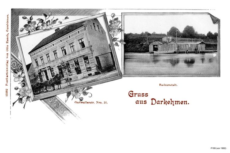 Darkehmen, Wohnhaus und Badeanstalt