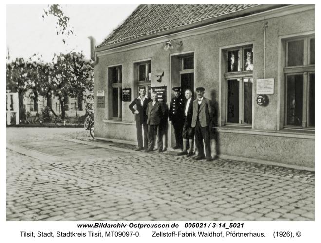 Tilsit, Zellstoff-Fabrik Waldhof, Pförtnerhaus