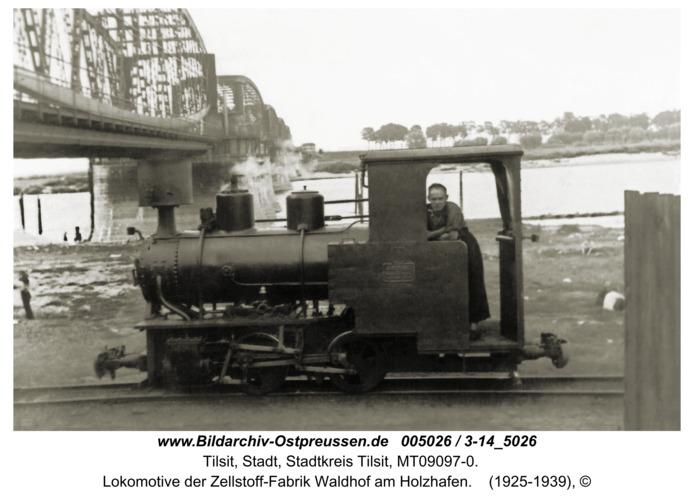 Tilsit, Lokomotive der Zellstoff-Fabrik Waldhof am Holzhafen