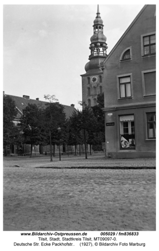 Tilsit, Deutsche Str. Ecke Packhofstr.