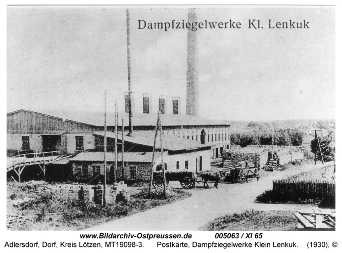 Adlersdorf, Postkarte, Dampfziegelwerke Klein Lenkuk