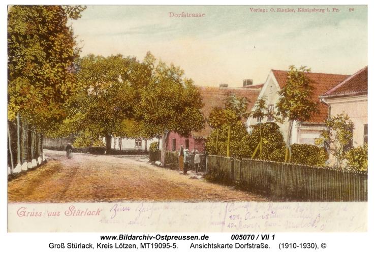 Groß Stürlack, Ansichtskarte Dorfstraße