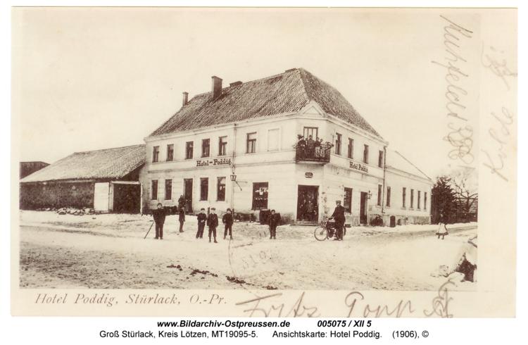 Groß Stürlack, Ansichtskarte: Hotel Poddig