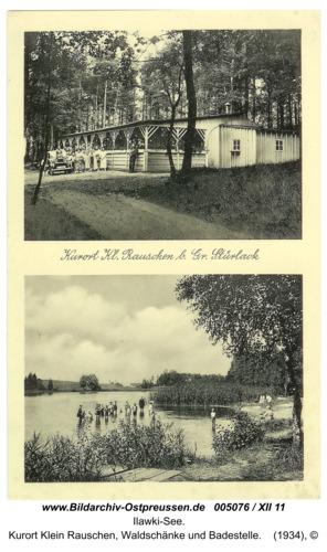 Ilawki-See, Kurort Klein Rauschen, Waldschänke und Badestelle