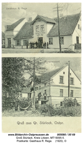 Groß Stürlack, Postkarte: Gasthaus R. Rega