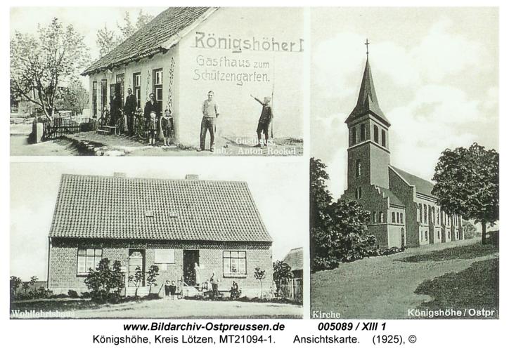 Königshöhe, Ansichtskarte