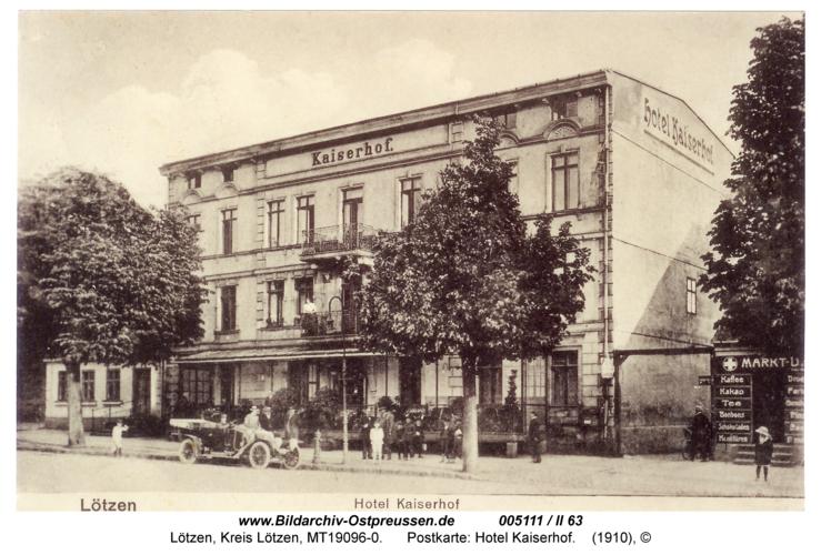 Lötzen, Postkarte: Hotel Kaiserhof