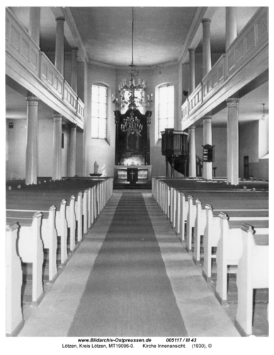 Lötzen, Kirche Innenansicht