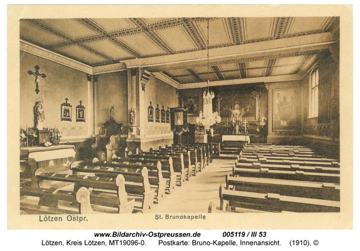 Lötzen, Postkarte: Bruno-Kapelle, Innenansicht