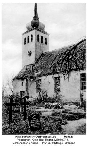 Piktupönen, Zerschossene Kirche