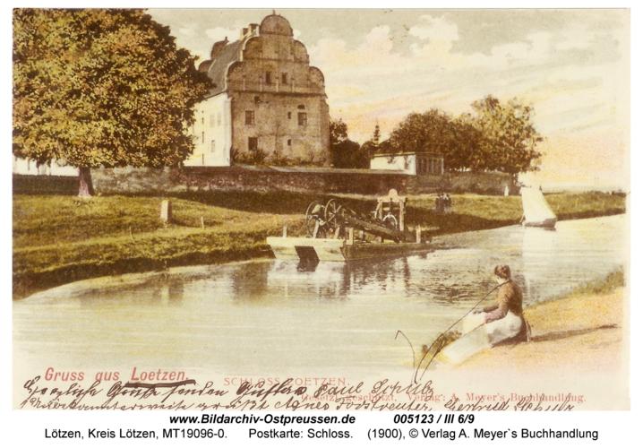 Lötzen, Postkarte: Schloss