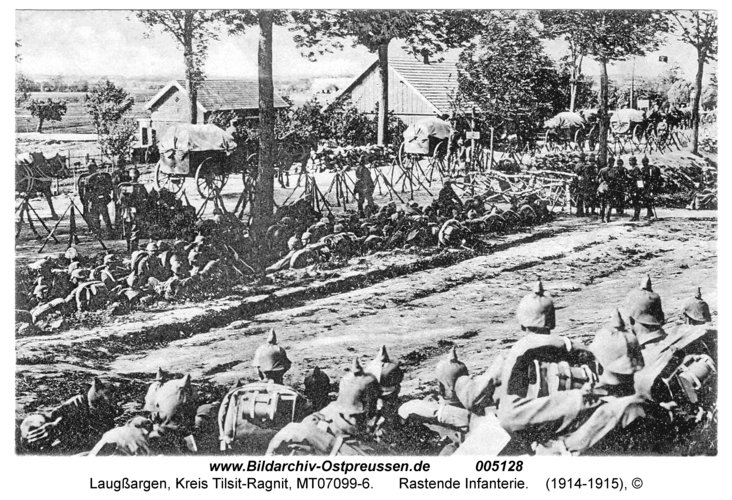 Laugßargen, Rastende Infanterie