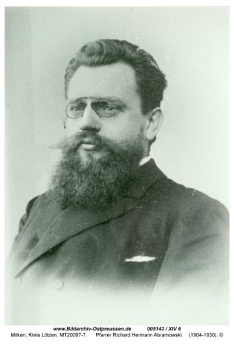 Milken, Pfarrer Richard Hermann Abramowski