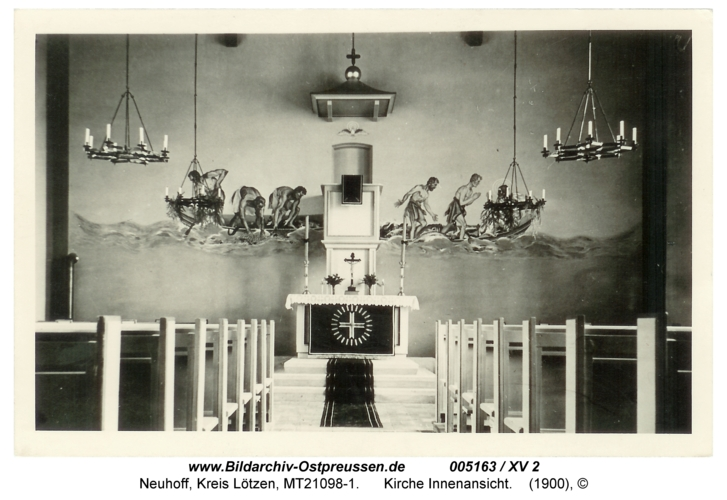 Neuhoff, Kirche Innenansicht