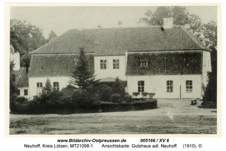 Neuhoff, Ansichtskarte: Gutshaus adl. Neuhoff