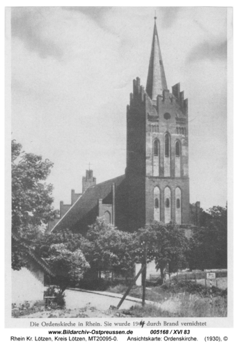 Rhein, Ansichtskarte: Ordenskirche