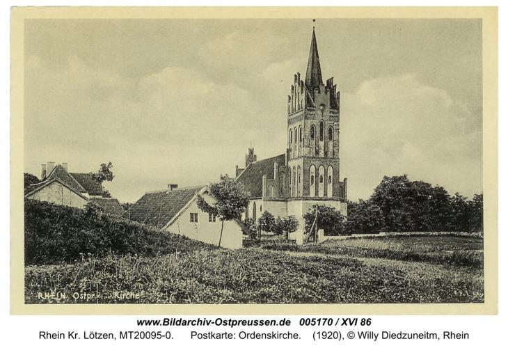 Rhein, Postkarte: Ordenskirche