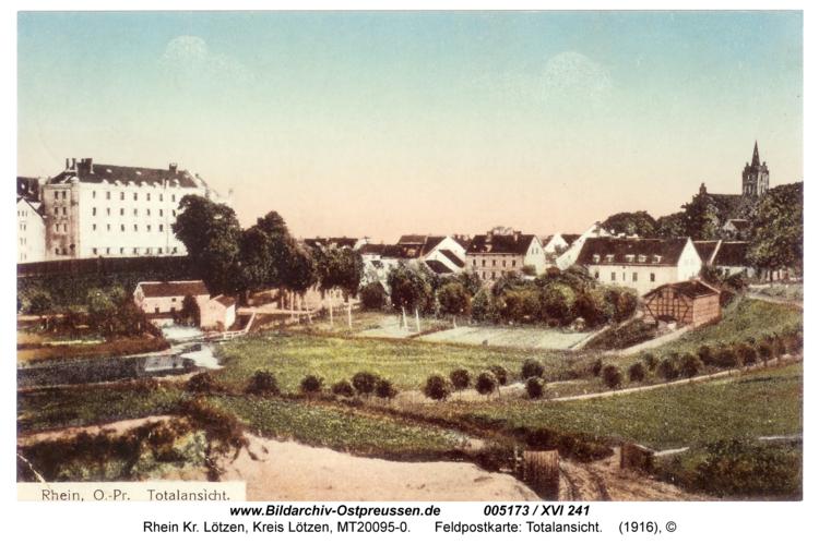 Rhein, Feldpostkarte: Totalansicht