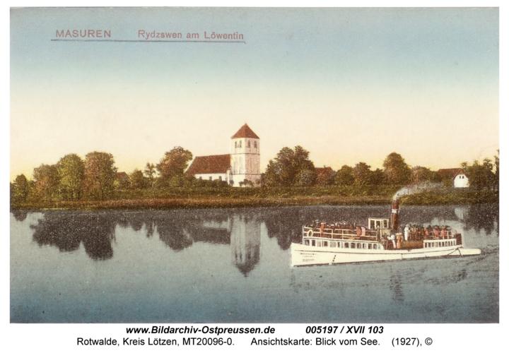 Rotwalde, Ansichtskarte: Blick vom See