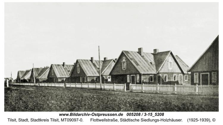 Tilsit, Flottwellstraße, Städtische Siedlungs-Holzhäuser