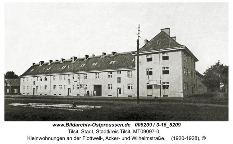 Tilsit, Kleinwohnungen an der Flottwell-, Acker- und Wilhelmstraße
