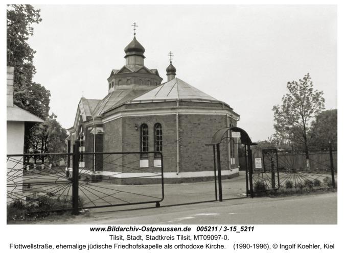 Tilsit, Flottwellstraße, ehemalige jüdische Friedhofskapelle als orthodoxe Kirche