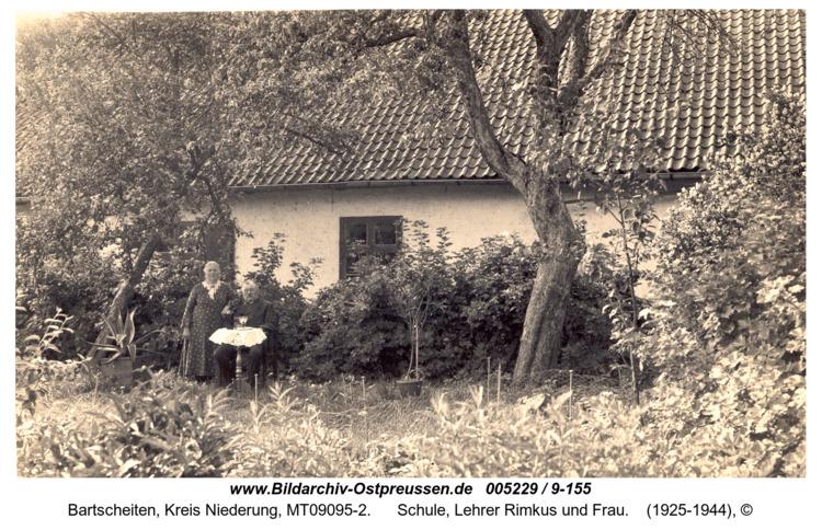 Oswald früher Bartscheiten, Schule, Lehrer Rimkus und Frau