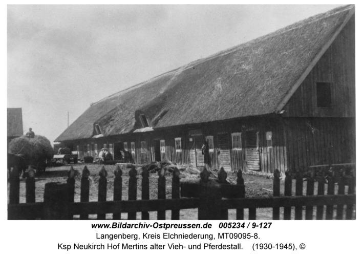 Langenberg, Ksp Neukirch Hof Mertins alter Vieh- und Pferdestall