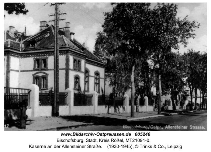 Bischofsburg, Kaserne an der Allensteiner Straße